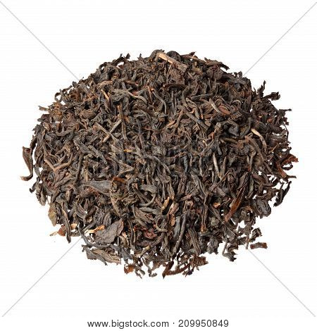 Indian Assam tea isolated on white. High resolution photo.