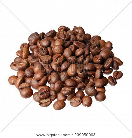 Indian Cherry gourmet coffee on white background. Indian Cherry, elite coffee. High resolution photo.