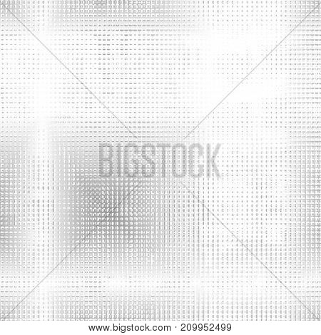 Light silver dotted background. Vector half tone background