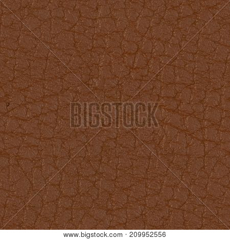 Elite brown leather background. Seamless square texture, tile ready. High resolution photo.