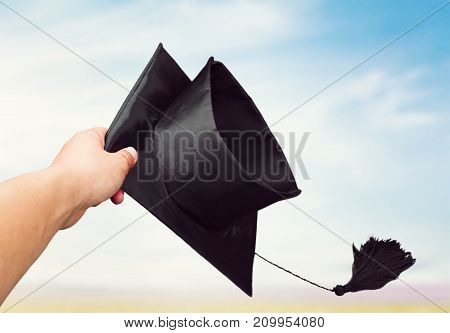 Air hand hat graduation throwing throw grad
