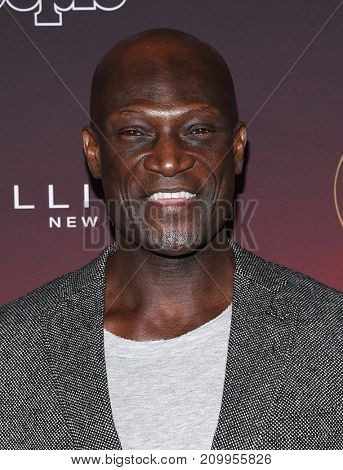 LOS ANGELES - OCT 04:  Peter Mensah arrives for the People's 'One's To Watch' Event on October 4, 2017 in Hollywood, CA
