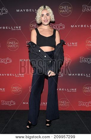 LOS ANGELES - OCT 04:  Stella Santana arrives for the People's 'One's To Watch' Event on October 4, 2017 in Hollywood, CA