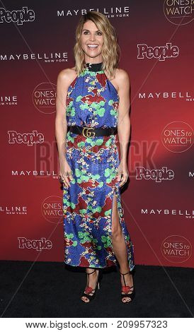 LOS ANGELES - OCT 04:  Lori Loughlin arrives for the People's 'One's To Watch' Event on October 4, 2017 in Hollywood, CA