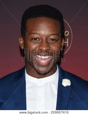 LOS ANGELES - OCT 04:  Brandon Micheal Hall arrives for the People's 'One's To Watch' Event on October 4, 2017 in Hollywood, CA