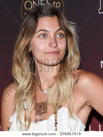 LOS ANGELES - OCT 04:  Paris Jackson arrives for the People's 'One's To Watch' Event on October 4, 2017 in Hollywood, CA