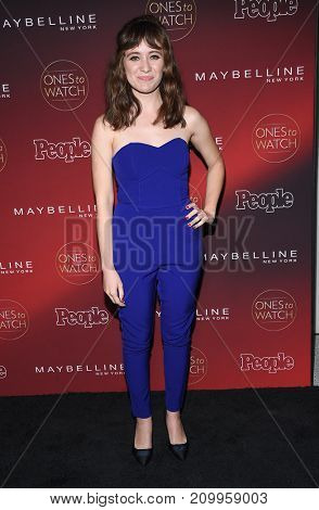 LOS ANGELES - OCT 04:  Noel Wells arrives for the People's 'One's To Watch' Event on October 4, 2017 in Hollywood, CA