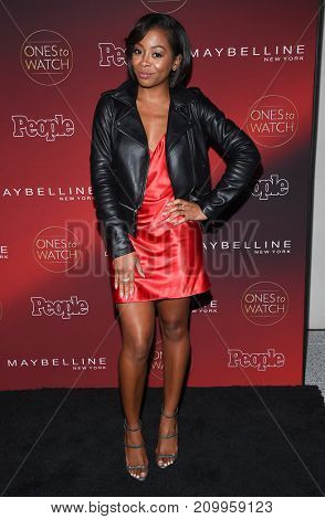 LOS ANGELES - OCT 04:  Bresha Webb arrives for the People's 'One's To Watch' Event on October 4, 2017 in Hollywood, CA
