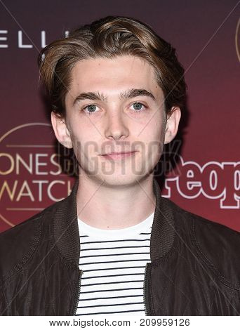 LOS ANGELES - OCT 04:  Austin Abrams arrives for the People's 'One's To Watch' Event on October 4, 2017 in Hollywood, CA