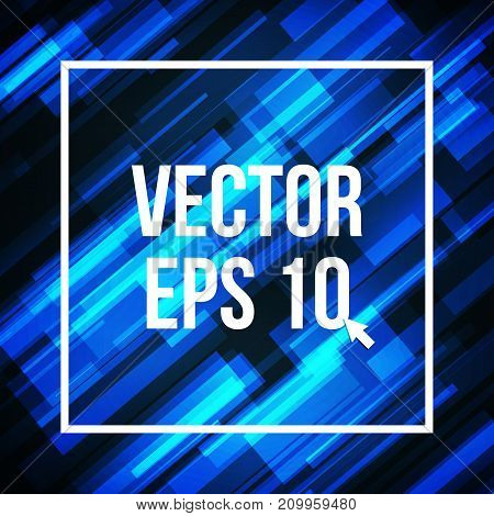 Blue lines abstract background. Digital geometric, hi-tech motion. vector illustration.