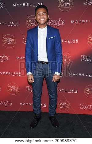 LOS ANGELES - OCT 04:  Chosen Jacobs arrives for the People's 'One's To Watch' Event on October 4, 2017 in Hollywood, CA