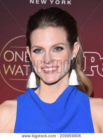 LOS ANGELES - OCT 04:  Chelsey Crisp arrives for the People's 'One's To Watch' Event on October 4, 2017 in Hollywood, CA