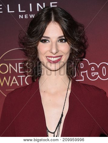 LOS ANGELES - OCT 04:  Genevieve Buechner arrives for the People's 'One's To Watch' Event on October 4, 2017 in Hollywood, CA