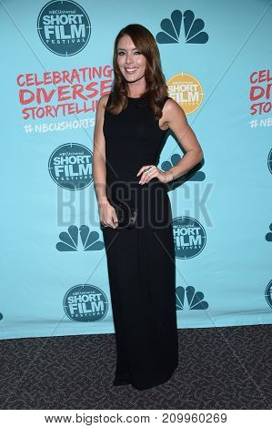 LOS ANGELES - OCT 18:  Amy Louise Pemberton arrives for the 12th Annual NBCUniversal Short Film Festival on October 18, 2017 in Los Angeles, CA