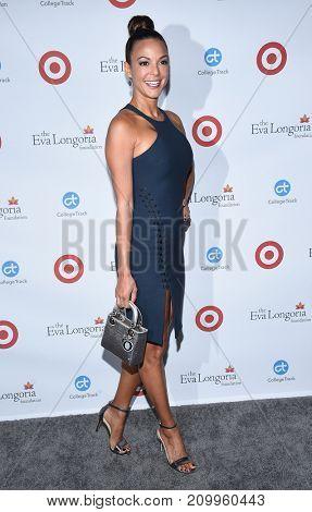 LOS ANGELES - OCT 12:  Eva LaRue arrives for the Eva Longoria Foundation Dinner on October 12, 2017 in Beverly Hills, CA