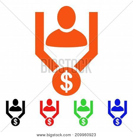 Sales Funnel icon. Vector illustration style is a flat iconic sales funnel symbol with black, orange, red, green, blue color versions. Designed for web apps and software interfaces.