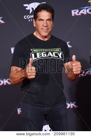 LOS ANGELES - OCT 10:  Lou Ferrigno arrives for the