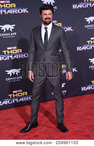 LOS ANGELES - OCT 10:  Karl Urban arrives for the