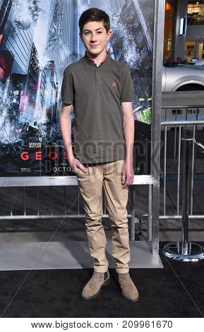 LOS ANGELES - OCT 16:  Mason Cook arrives for the