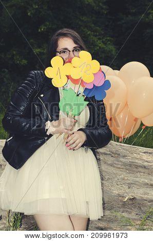 Paper Flowers Numbers Prom Girl Celebrate Fun