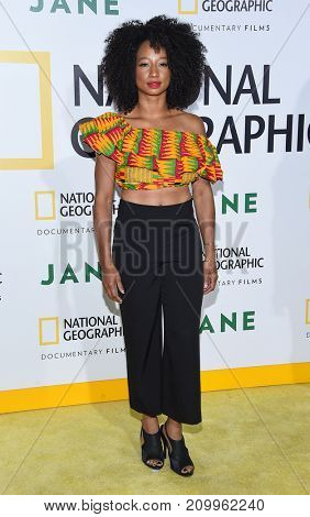 LOS ANGELES - OCT 09:  Monique Coleman arrives for the 'Jane' Los Angeles Premiere on October  9, 2017 in Hollywood, CA