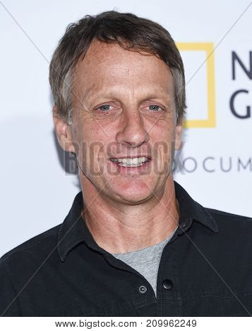 LOS ANGELES - OCT 09:  Tony Hawk arrives for the 'Jane' Los Angeles Premiere on October  9, 2017 in Hollywood, CA