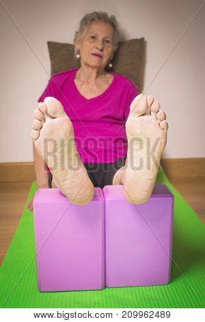 Rehabilitation Exercises With Yoga Blocks For Seniors