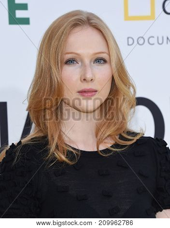 LOS ANGELES - OCT 09:  Molly Quinn arrives for the 'Jane' Los Angeles Premiere on October  9, 2017 in Hollywood, CA
