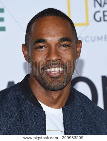 LOS ANGELES - OCT 09:  Jason George arrives for the 'Jane' Los Angeles Premiere on October  9, 2017 in Hollywood, CA
