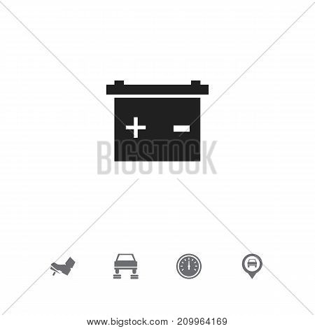 Set Of 5 Editable Car Icons. Includes Symbols Such As Pinpoint, Repair, Treadle And More