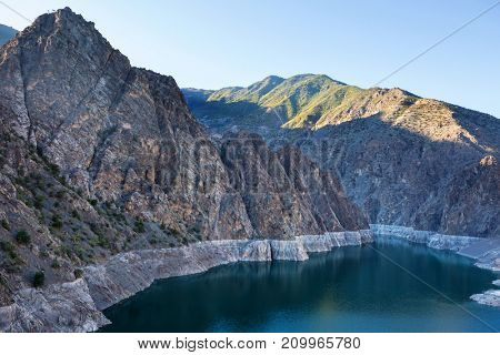 Lake in Turkey. Beautiful mountains landscapes.
