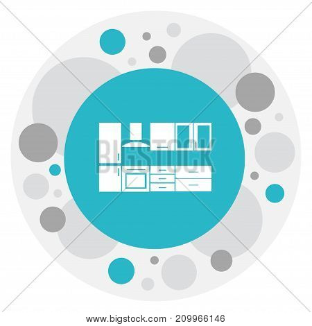 Vector Illustration Of Interior Symbol On Kitchen Furniture Icon
