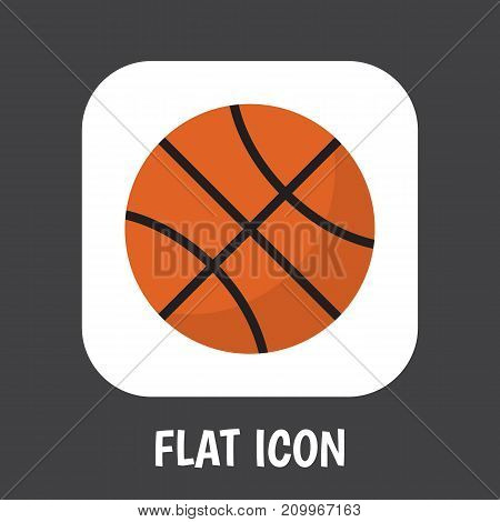 Vector Illustration Of Lifestyle Symbol On Basketball Flat Icon