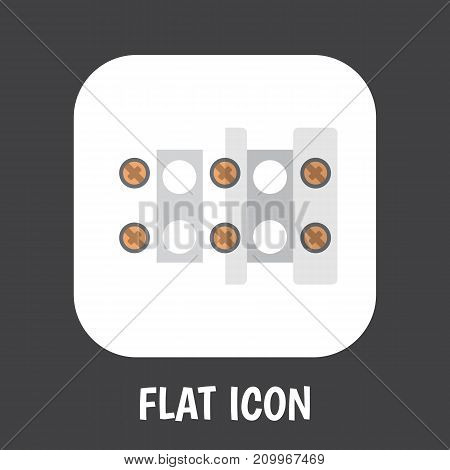 Vector Illustration Of Instruments Symbol On Connection Flat Icon
