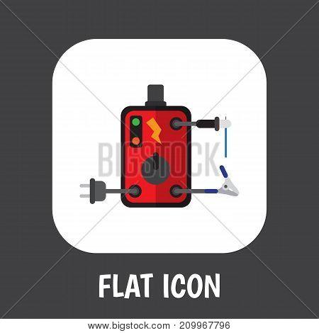 Vector Illustration Of Instruments Symbol On Welding Flat Icon