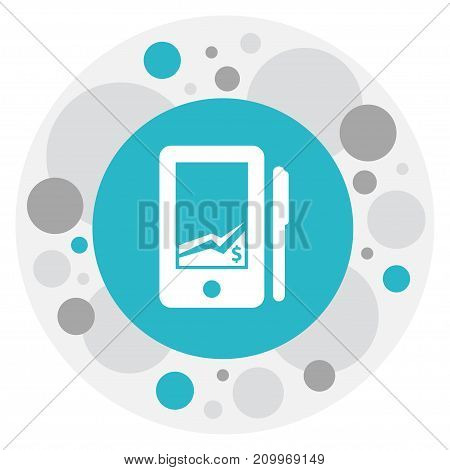 Vector Illustration Of Investment Symbol On Statistic Icon