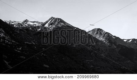 Black and white snow capped mountain in Alaska