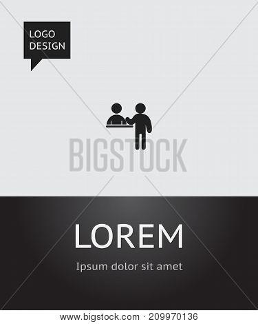 Vector Illustration Of Holiday Symbol On Reception Desk Icon