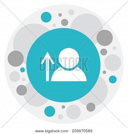 Vector Illustration Of Network Symbol On Man Icon