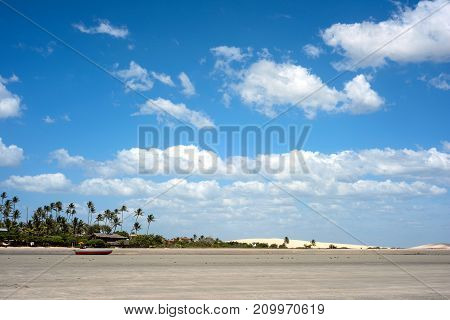 Famous Dunes and beach of Jericoacoara Ceara state Brazil
