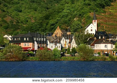 Alken Town On Moselle River In Rhineland-palatinate, Germany.