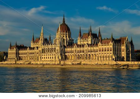 Hungarian Parliament Building in Budapest, Hungary, Europe