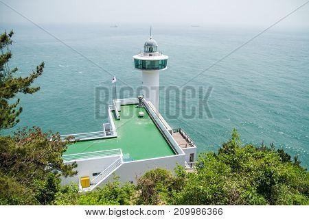 Lighthouse at the sea of Republic of Korea