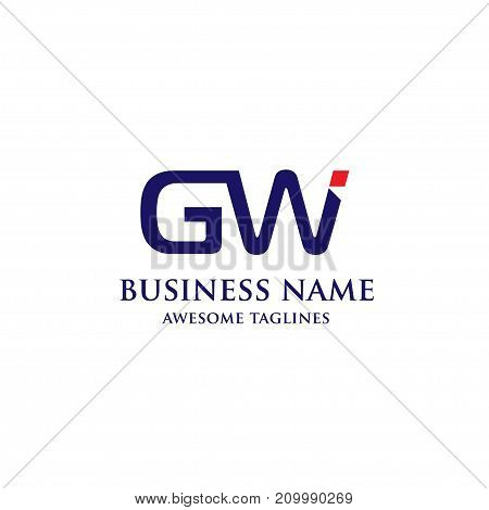 GW letter logo design vector illustration template, G letter logo vector, letter g and w logo vector, creative GW letter logo