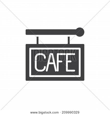 Cafe sign icon vector, filled flat sign, solid pictogram isolated on white. Symbol, logo illustration.