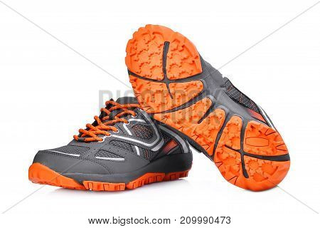 new unbranded sport shoes isolated on white background