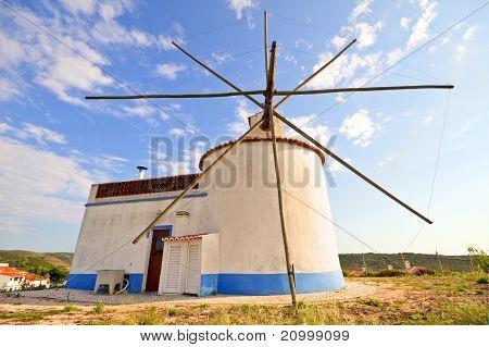 Traditonal windmill in Portugal