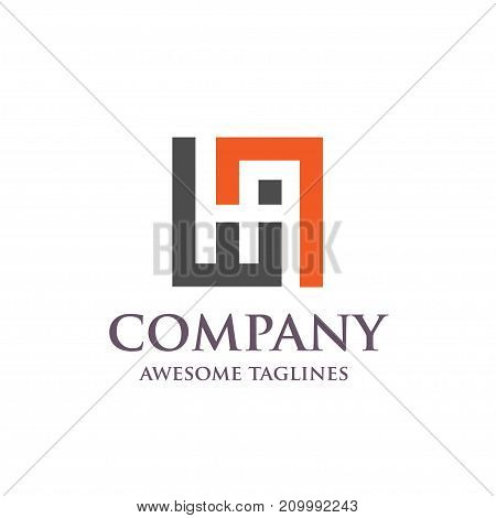 creative letter HA logo, Abstract business logo design template, modern Letter HA Logo template editable for your business