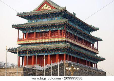 Zhengyang Gate south of Tiananmen Square in Beijing