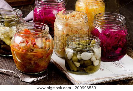 Fermented Vegetables In Jars